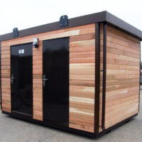 cedar clad office cabin