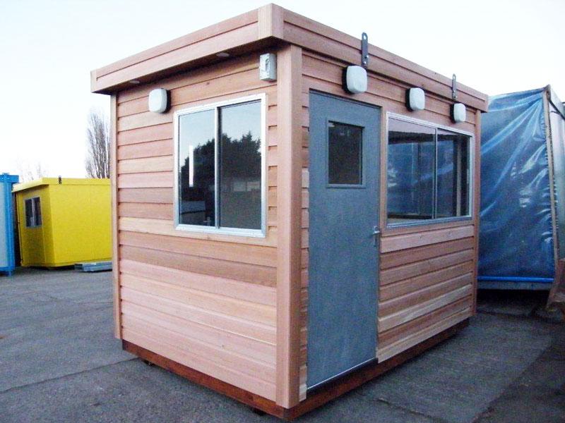 wood clad gatehouse